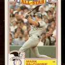 OAKLAND ATHLETICS MARK McGWIRE 1990 TOPPS ALL STAR GLOSSY # 13