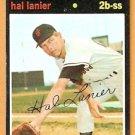 SAN FRANCISCO GIANTS HAL LANIER 1971 TOPPS # 181 good