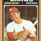 ST LOUIS CARDINALS JULIAN JAVIER 1971 TOPPS # 185 VG/EX
