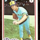 MILWAUKEE BREWERS BOB McCLURE 1978 TOPPS # 243 VG/EX