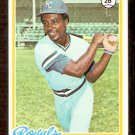 KANSAS CITY ROYALS FRANK WHITE 1978 TOPPS # 248 EX MT