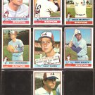 1976 TOPPS MONTREAL EXPOS TEAM LOT 7 DIFFERENT BIITTNER KIRBY BAILEY MURRAY +