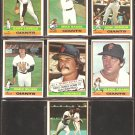 1976 TOPPS SAN FRANCISCO GIANTS TEAM LOT 7 DIFFERENT LAVELLE REITZ SADEK +++