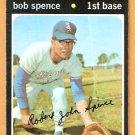 CHICAGO WHITE SOX BOB SPENCE 1971 TOPPS # 186 EX