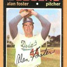 LOS ANGELES DODGERS ALAN FOSTER 1971 TOPPS # 207 EX+