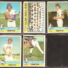 NEW YORK METS 5 DIFF 1976 TOPPS JON MATLACK TEAM CARD KEN SANDERS MIKE PHILLIPS HANK WEBB