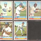 LOS ANGELES DODGERS 5 DIFF 1976 TOPPS RICK RHODEN JOE FERGUSON WILLIE CRAWFORD JOHN HALE LERON LEE
