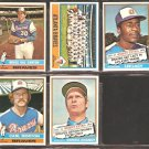 ATLANTA BRAVES  5 DIFF 1976 TOPPS CARL MORTON TEAM CARD LEE LACY DARREL CHANEY BRUCE DAL CANTON