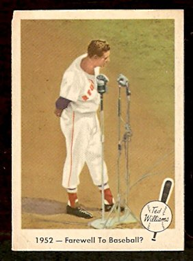 1959 FLEER TED WILLIAMS # 45 FAREWELL TO BASEBALL BOSTON RED SOX