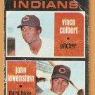 CLEVELAND INDIANS ROOKIE STARS JOHN LOWENSTEIN VINCE COLBERT 1971 TOPPS # 231 fair