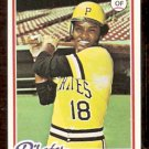 PITTSBURGH PIRATES OMAR MORENO 1978 TOPPS # 283 VG/EX