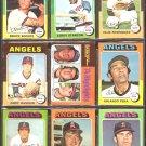 CALIFORNIA ANGELS 13 DIFF 1975 TOPPS NOLAN RYAN HL BOCHTE RC FIGUEROA HASSLER +