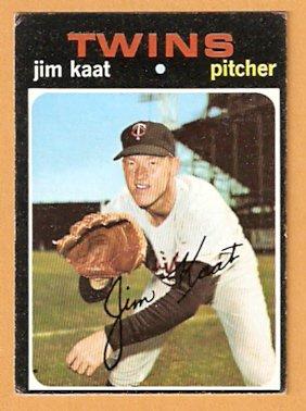 MINNESOTA TWINS JIM KAAT 1971 TOPPS # 245 VG/EX