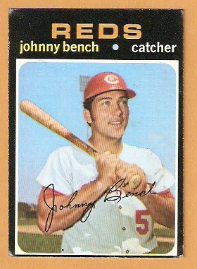 CINCINNATI REDS JOHNNY BENCH 1971 TOPPS # 250 VG+
