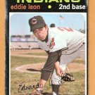 CLEVELAND INDIANS EDDIE LEON 1971 TOPPS # 252  fair/good