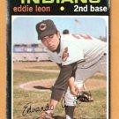 CLEVELAND INDIANS EDDIE LEON 1971 TOPPS # 252  fair/good