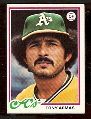 OAKLAND ATHLETICS TONY ARMAS 1978 TOPPS # 298 VG