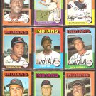 CLEVELAND INDIANS 9 DIFF 1975 TOPPS RICO CARTY FRANK DUFFY SPIKES McCRAW LERON LEE BOSMAN WILCOX +