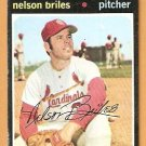 ST LOUIS CARDINALS NELSON BRILES 1971 TOPPS # 257 good