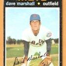 NEW YORK METS DAVE MARSHALL 1971 TOPPS # 259 good
