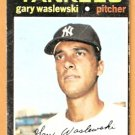 NEW YORK YANKEES GARY WASLEWSKI 1971 TOPPS # 277 VG