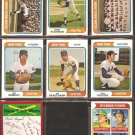NEW YORK METS 8 DIFF 1974 TOPPS TOM SEAVER JERRY KOOSMAN TEAM CARD CRAIG SWAN {R} SADECKI HODGES