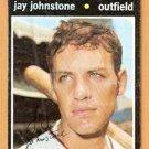 CHICAGO WHITE SOX JAY JOHNSTONE 1971 TOPPS # 292 good