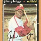 PHILADELPHIA PHILLIES JOHNNY BRIGGS 1971 TOPPS # 297 good