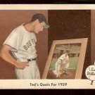 1959 FLEER TED WILLIAMS # 80 TED'S GOALS FOR 1959 BOSTON RED SOX