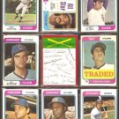 CHICAGO CUBS 9 DIFF 1974 TOPPS BILLY WILLIAMS BURT HOOTON LARRY GURA +