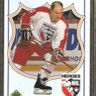 DETROIT RED WINGS TORONTO MAPLE LEAFS RED KELLY 1990 UPPER DECK HEROES # 502