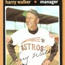 HOUSTON ASTROS HARRY WALKER 1971 TOPPS # 312 good