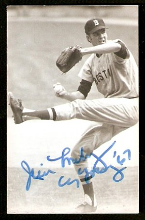 BOSTON RED SOX JIM LONBORG AUTOGRAPHED POSTCARD