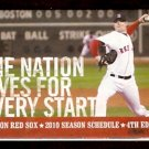 BOSTON RED SOX 2010 POCKET SCHEDULE JON LESTER THE NATION LIVES FOR EVERY START