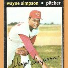 CINCINNATI REDS WAYNE SIMPSON 1971 TOPPS # 339 good