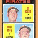 PITTSBURGH PIRATES ROOKIE STARS MILT MAY ED ACOSTA 1971 TOPPS # 343 EX