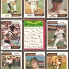 SAN FRANCISCO GIANTS 14 DIFF 1974 TOPPS MIKE CALDWELL JIM BARR CHRIS SPEIER RANDY MOFFITT SOSA +