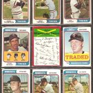 MINNESOTA TWINS 18 DIFF 1974 TOPPS ROD CAREW DANNY THOMPSON JERRY TERRELL DAVE GOLTZ BRYE QUILICI