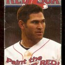 BOSTON RED SOX 2003 POCKET SCHEDULE JOHNNY DAMON PAINT THE TOWN RED