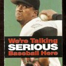 BOSTON RED SOX 2000 POCKET SCHEDULE PEDRO MARTINEZ WE'RE TALKING SERIOUS BASEBALL HERE