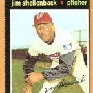 WASHINGTON SENATORS JIM SHELLENBACK 1971 TOPPS # 351 EX MT
