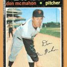 SAN FRANCISCO GIANTS DON McMAHON 1971 TOPPS # 354 fair