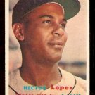 KANSAS CITY ATHLETICS HECTOR LOPEZ 1957 TOPPS # 6 EX MT