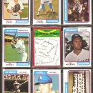 LOS ANGELES DODGERS 16 DIFF 1974 TOPPS STEVE GARVEY DAVE LOPES BILL RUSSELL RON CEY TOMMY JOHN TEAM