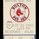 DETROIT TIGERS BOSTON RED SOX 1985 TICKET STUB WADE BOGGS 2 HITS DWIGHT EVANS HR RICH GEDMAN 3 HITS