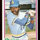 SEATTLE MARINERS LARRY MILBOURNE 1978 TOPPS # 366 EX