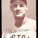 BOSTON RED SOX WALTER DROPO 1947 – 1966 EXHIBIT SUPPLY CARD