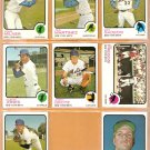 NEW YORK METS 8 DIFF 1973 TOPPS JERRY KOOSMAN CLEON JONES JOHN MILNER JERRY GROTE JIM FREGOSI