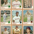 TEXAS RANGERS 18 DIFF 1973 TOPPS RICO CARTY TOBY HARRAH TEAM PETE BROBERG LENNY RANDLE BILL FAHEY ++
