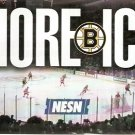 BOSTON BRUINS 2000-01 SCHEDULE FLYER W/ DETROIT RED WINGS MORE ICE